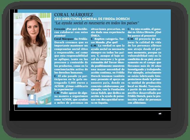 entrevista coral marquez premios corazon