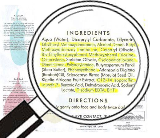 FRIDDA DORSCH. Cómo leer las etiquetas de los cosméticos?