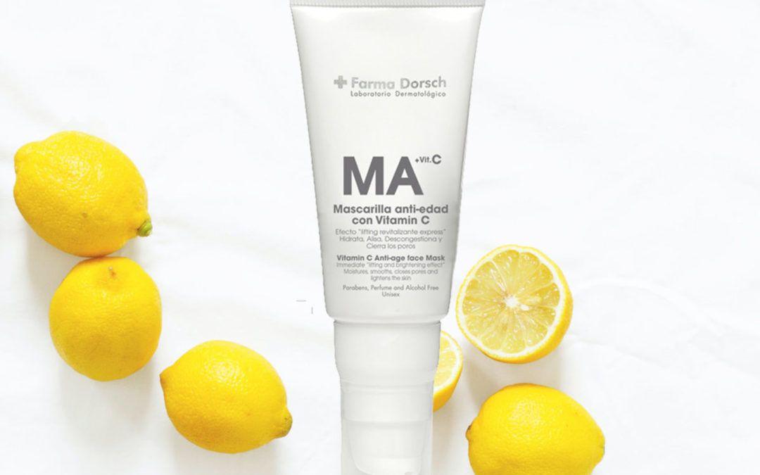 Mascarilla con Vitamina C, ¡Tu piel la necesita!