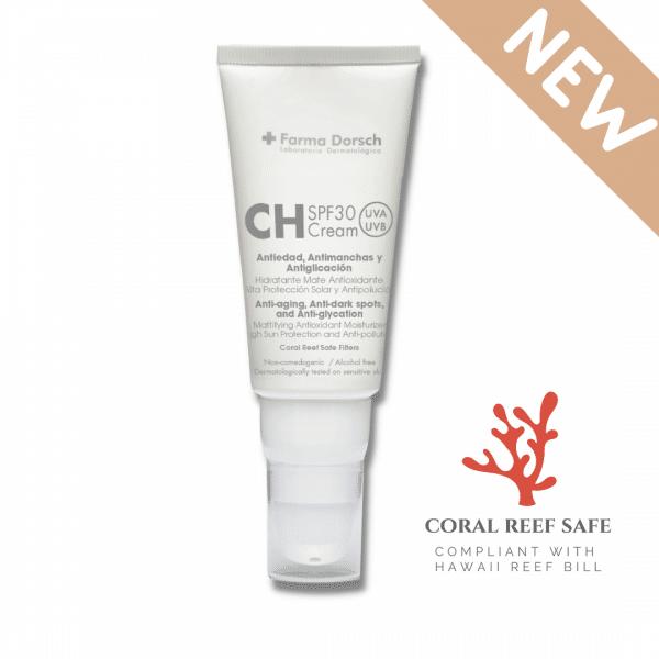 Crema Hidratante Antiedad SPF 30. CORAL REEF SAFE